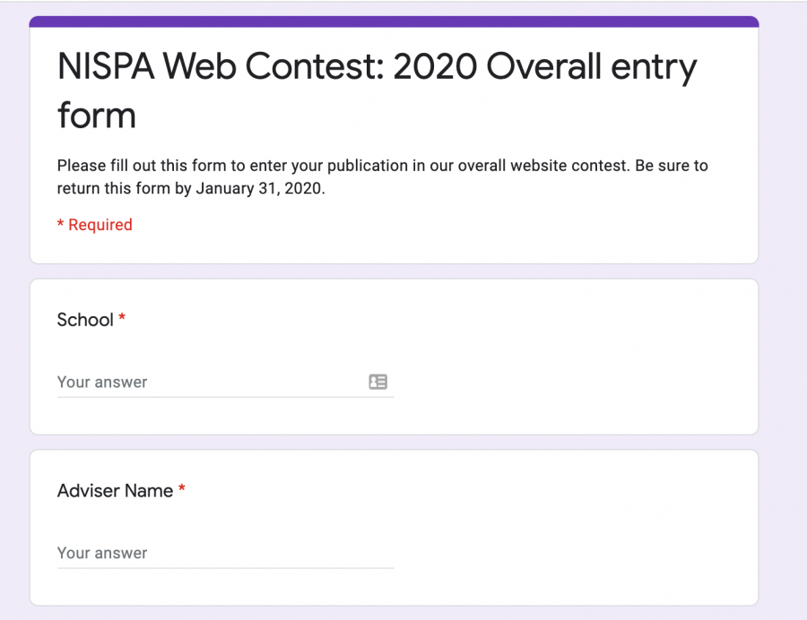 Google forms for online contests